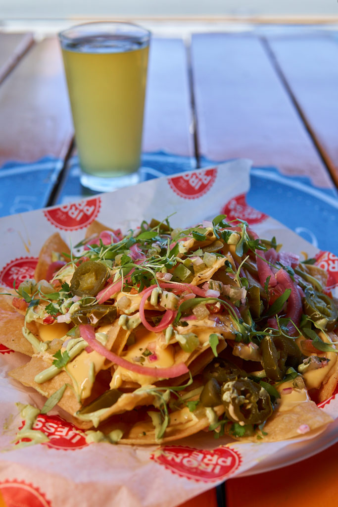 House nachos at The Iron Press